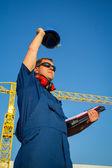 Shipyard worker — Stock Photo
