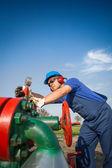 Oil engineer — Stock Photo