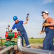 Stock Photo: oil workers