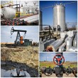 Oil gas industry collage — Stock Photo
