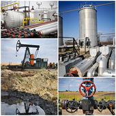 石油ガス業界のコラージュ — ストック写真