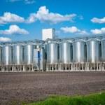 Silver silo — Stock Photo #25736743