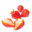 Strawberries isolated on white background — Stok fotoğraf