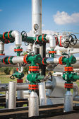 Wellhead in the oil and gas industry — Stock Photo