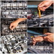 Auto Repair Service collage — Stock Photo