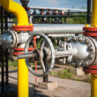 Stock Photo: Gas storage and pipeline
