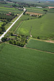 Airview of the field — Foto Stock