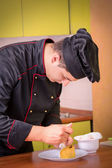 Chef cooking — Stock Photo