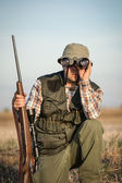 Hunter hunting — Stock Photo