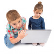Children using laptop — Stock Photo