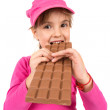 Girl eating chocolate — Stock Photo #35902579