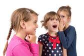 In vrienden oor fluisteren — Stockfoto