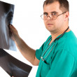 Stock Photo: Doctor X-Ray Analysis