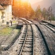 Stock Photo: Railway to horizon