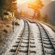 Railway to horizon — Stock Photo #38344581