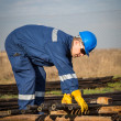 Worker at industrial plant — Stock Photo #39186069