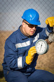 Worker at industrial plant — Stock Photo