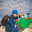 Worker at industrial plant — Stock Photo #39293611