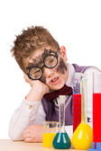 Little funny chemist — Stock Photo
