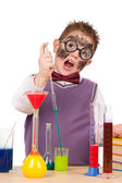 Little funny chemist — Stockfoto