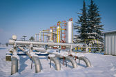 Winter gas industry — Stock Photo
