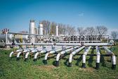 Planta de procesamiento de gas y petróleo — Foto de Stock