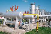 Olja och gas bearbetningsanläggningen — Stockfoto