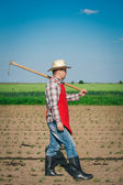 Farmer in the Field — Stock Photo