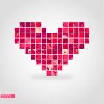 Heart mosaic. Vector illustration. — Stock Vector #12582172