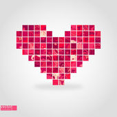 Heart mosaic. Vector illustration. — Stock Vector