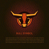 Bull head. Vector illustration — Stock Vector
