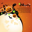 Halloween vector card or background. — Imagens vectoriais em stock