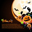 Halloween vector card or background. — Stock Vector