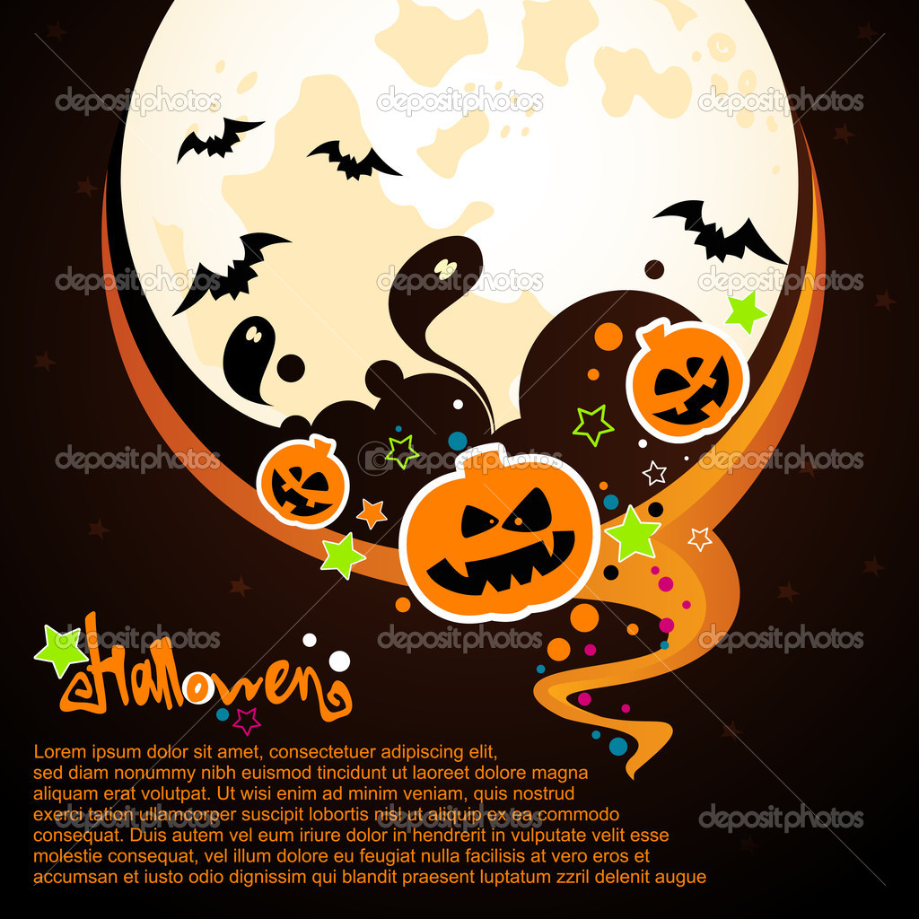 Halloween vector card or background.   Stock Vector #12857262