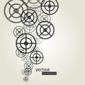 Gears background. vector illustration — Stock Vector