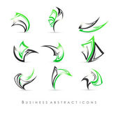 Business abstract icons — Stock Vector
