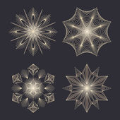 Vector snowflakes set for Christmas design. — Vector de stock