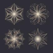 クリスマス デザインのベクトル雪片を設定します。. — ストックベクタ