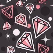 Seamless pattern with diamonds — Stock Vector