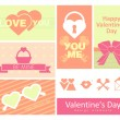 Happy valentines day cards. - Stok Vektör