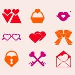 Valentine's day icons — Stock Vector #18837511