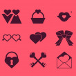 Collection of vector element design for Valentine's Day  — Stock Vector