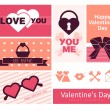 Royalty-Free Stock Vector Image: Happy valentines day cards.