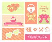 Feliz dia dos namorados cartões. — Vetor de Stock