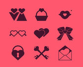 Collection of vector element design for Valentine's Day — 图库矢量图片