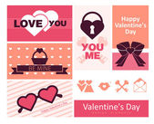 Happy valentines day cards. — Vettoriale Stock