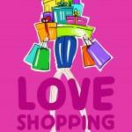 Fashion shopping girls — Stock Vector #21324267