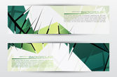 Website banner set. EPS 10. — Stock Vector