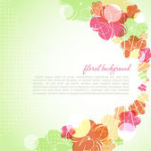 Vector beautiful flower background art — Stock Vector