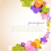 Spring background for the design of flowers. Vector illustration — Stock Vector